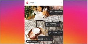 How to Sell on Instagram with Target example