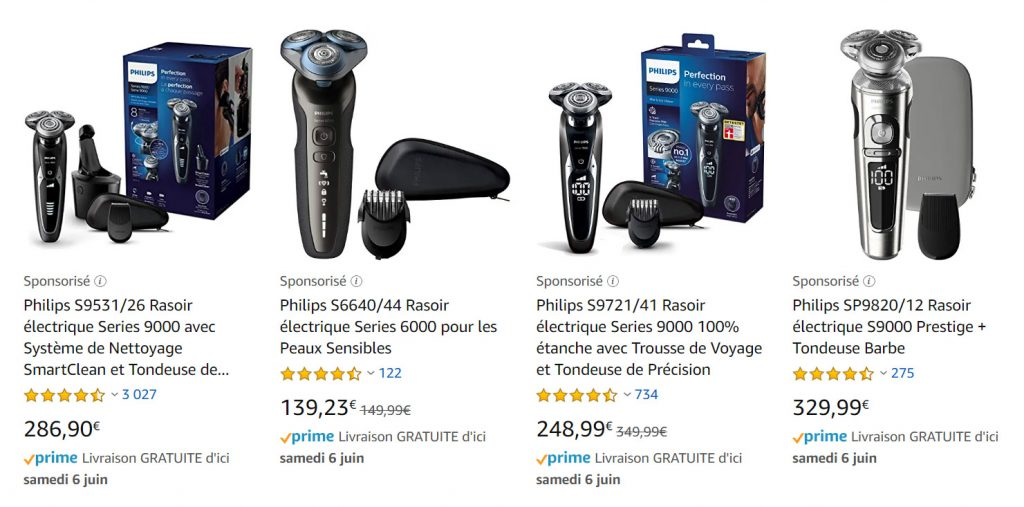 amazon rasoirs Philips