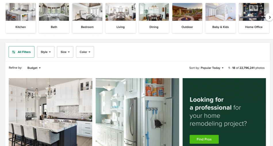 Houzz Home Ideas Page